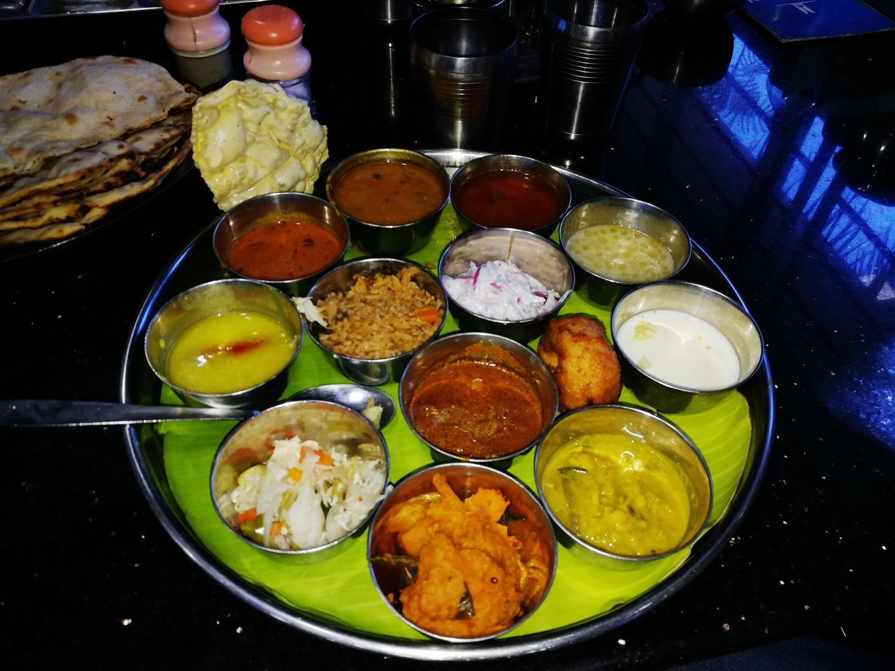 Food And Drink Food High Angle View Freshness Ready-to-eat Plate Cultures Healthy Eating Indoors  No People Day Tamilnadutourism Tamil Thali Tamil Food New Experiences Heaven And Earth India's End