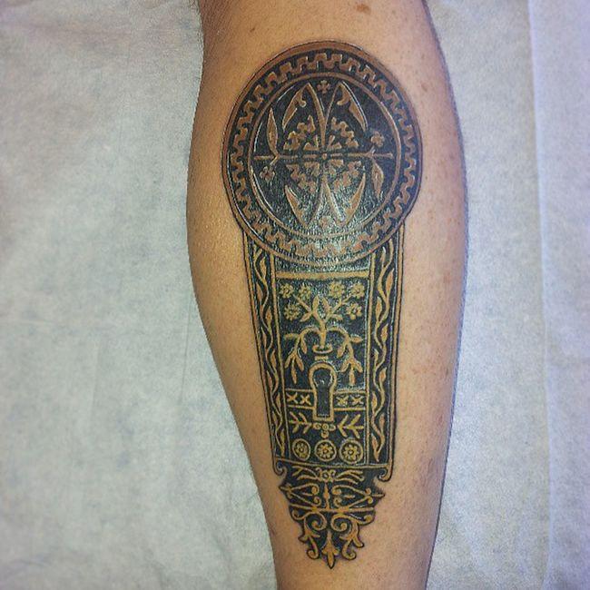 Forbiddenbodyart Eastlake Hardware Tattoo Portland doorknob