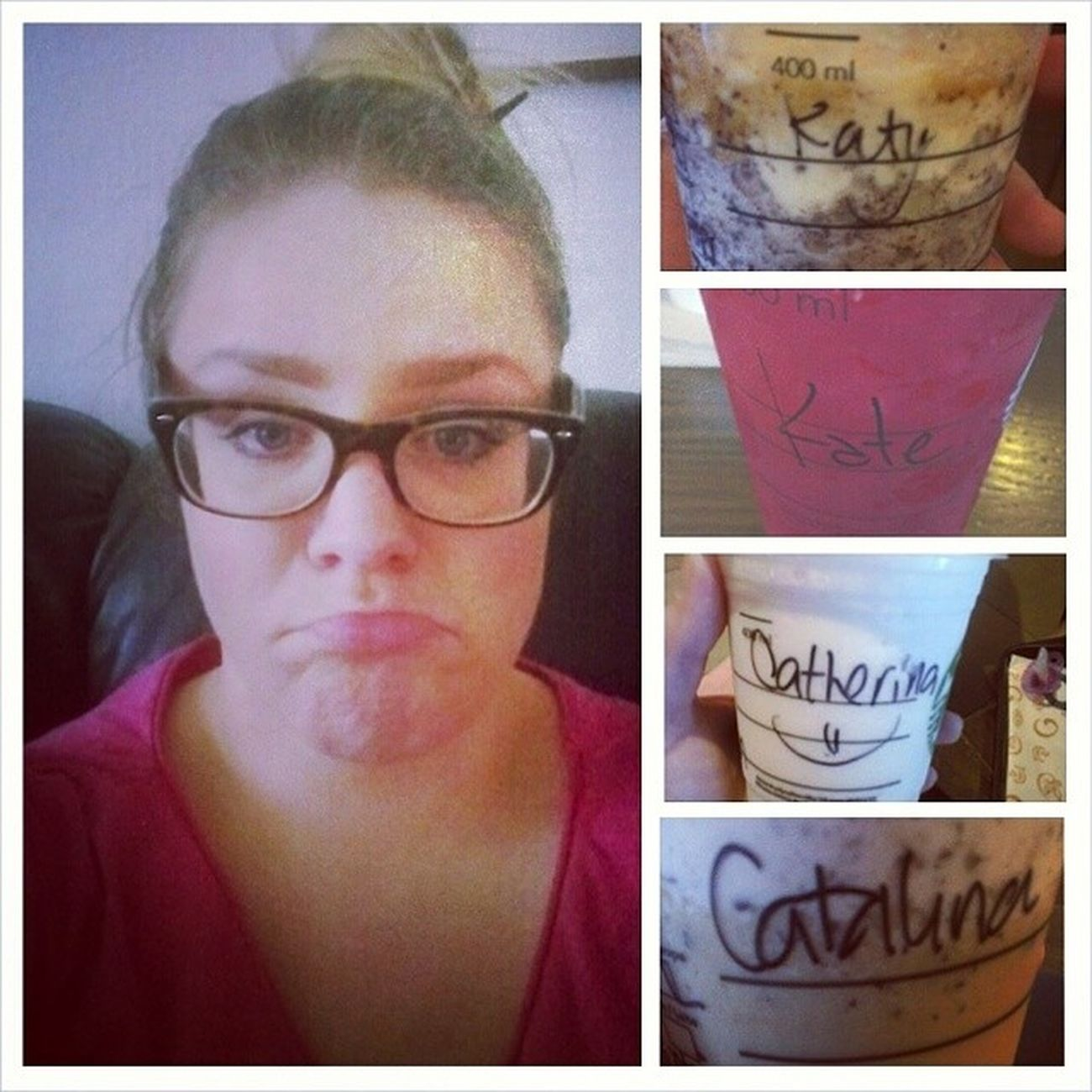 All my Names when I said KATARINA! Thanks  @starbucksargentina, los quiero igual :* Frappuccinodulcedeleche