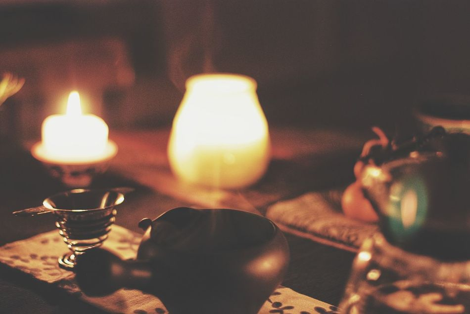 Flame Candle Heat - Temperature Indoors  Close-up Burning Illuminated Night No People Tea Light Чай Tea Cup Teapot Tea - Hot Drink чайнаяцеремония Samara Самара