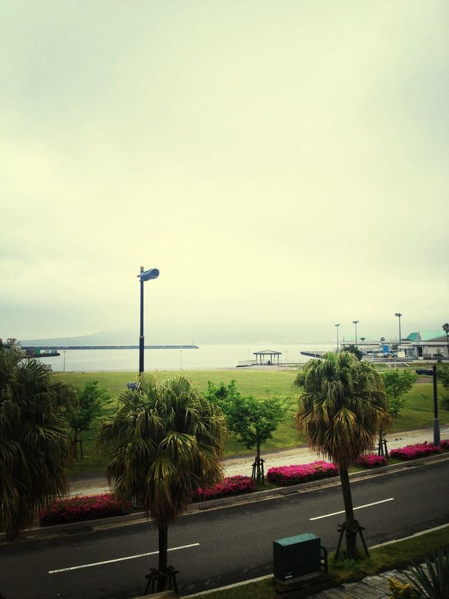 Sea View Cloudy Skies