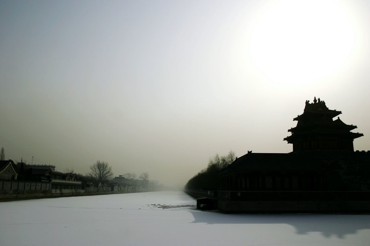 Beijing in winter, covered with mist from the cold climate and the snow puts you in a timeless state where the great culture and architecture shows its hidden beauty in the silhouette they bare Beijing Beijing, China Beijing Scenes Beijing Landmark Beijing History Snow Foggy Sky Snow Covered Architecture Cold Temperature Winter China Palace