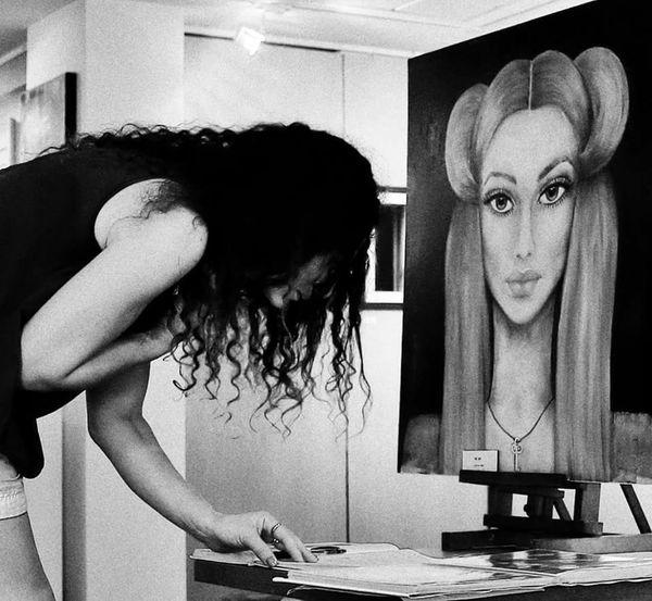 Portrait Black & White Saitta Rita Black&white My WorkArtWork Art, Drawing, Creativity Peinture Vernissage Peintre That Is Me The Portraitist - 2016 EyeEm Awards