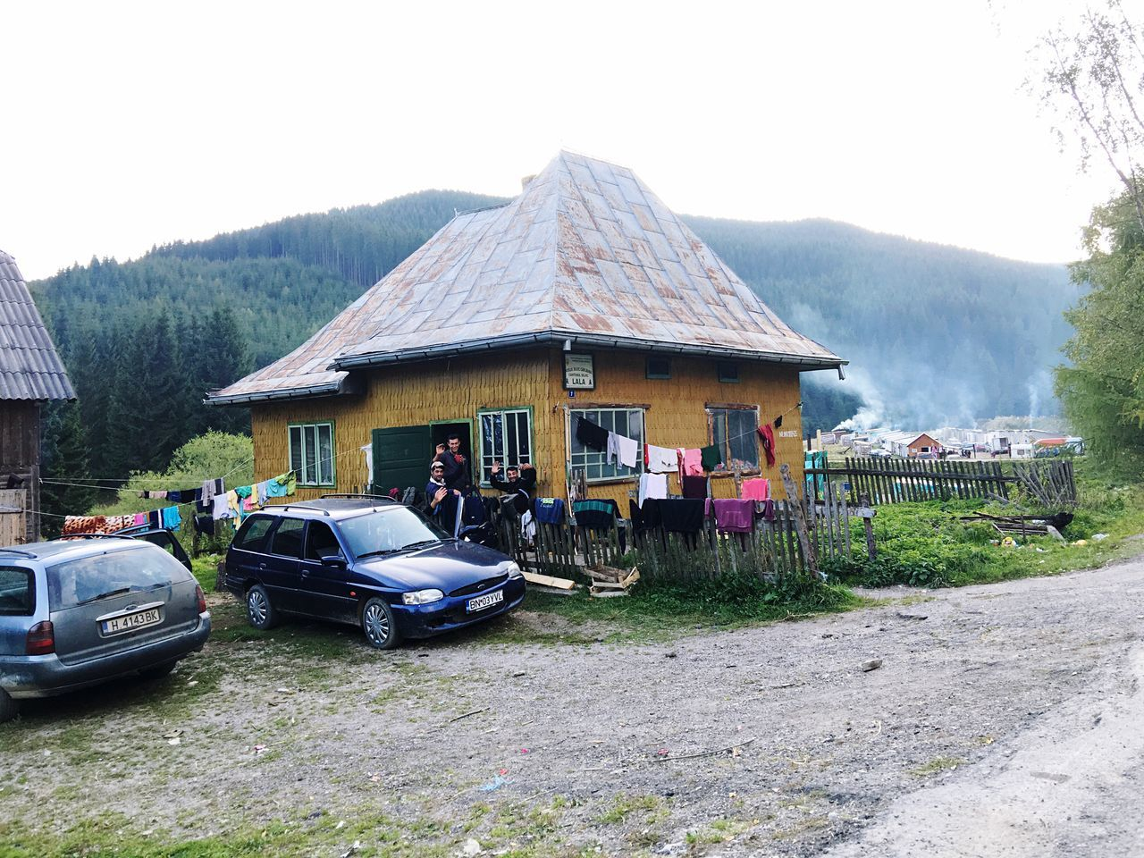 Romania Architecture Built Structure Building Exterior House Mountain Transportation Residential Structure Clear Sky Day Outdoors Mountain Range Person Green Residential District Town Village Life Pepole Village Country Life Countryside Country Living Solitude People And Places Gipsy