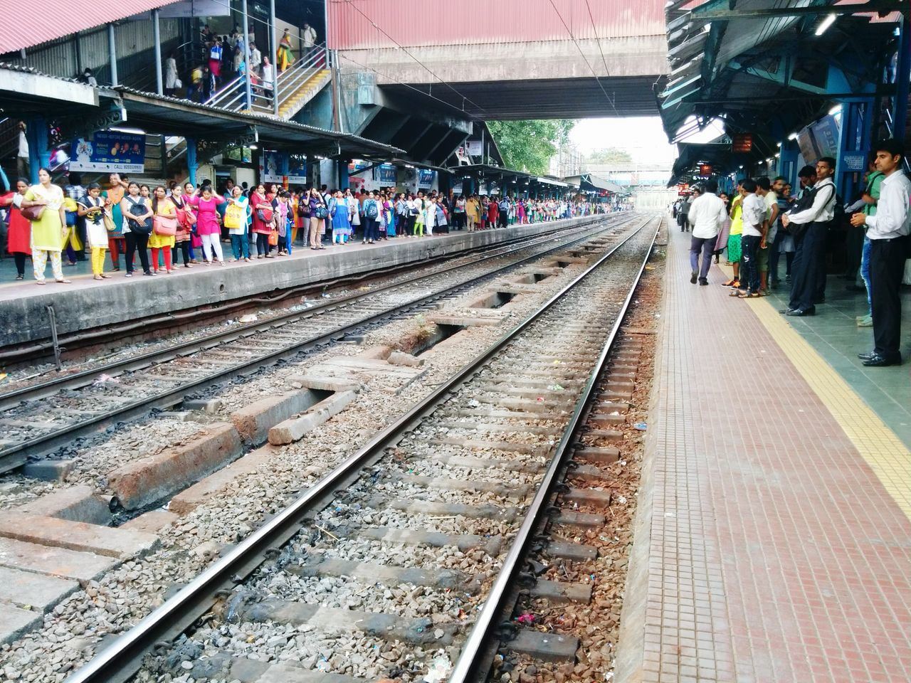 Women waiting for ladies only train Traveling Local Train Mumbaikar City Life India Mumbai Working Women Train Station Railway Track Nexus5photography