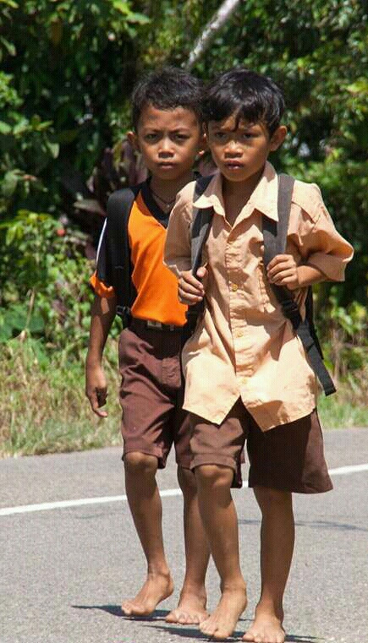 School Uniforms Around The World _ perjuangan menempuh ilmu,, First Eyeem Photo Indonesian Street (Mobile) Photographie Eyeemphotography Naturalface Student Life MySchool