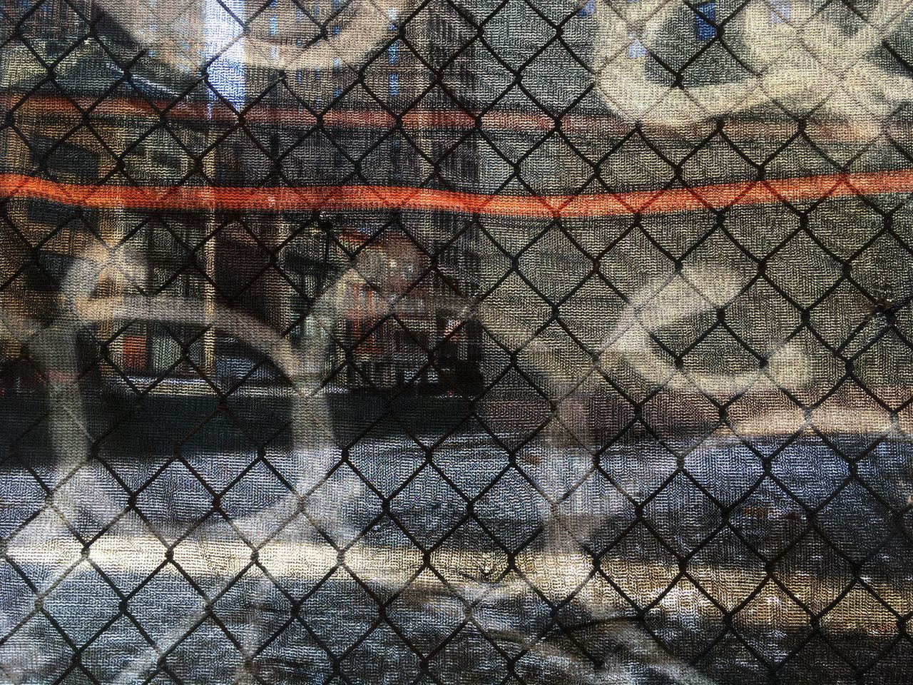 Chainlink Fence Fence Safety Protection Metal Outdoors Day Real People NYC Graffiti Tags New York Manhattan Chelsea Architecture New York City Urban Views
