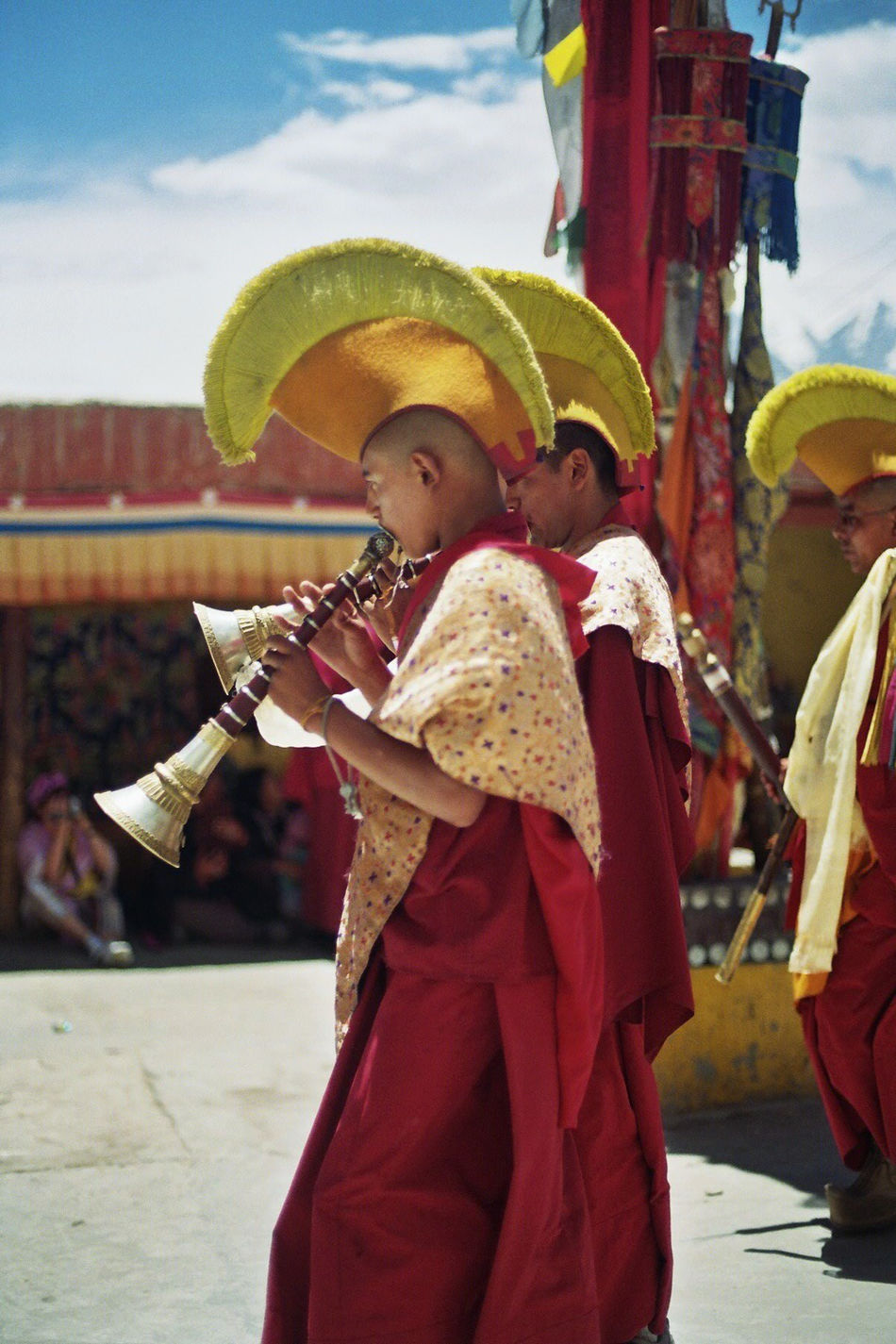 35mm Film Analogue Photography Animals Buddhism Dance Gelugpa India Ladakh Monks Tibetan  Tibetan Buddhism Vajrayana Yellow Hat Zanskar  Miles Away