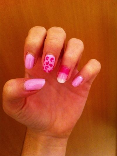New nails ? how do they look like? Pink Leopard Ombrenails