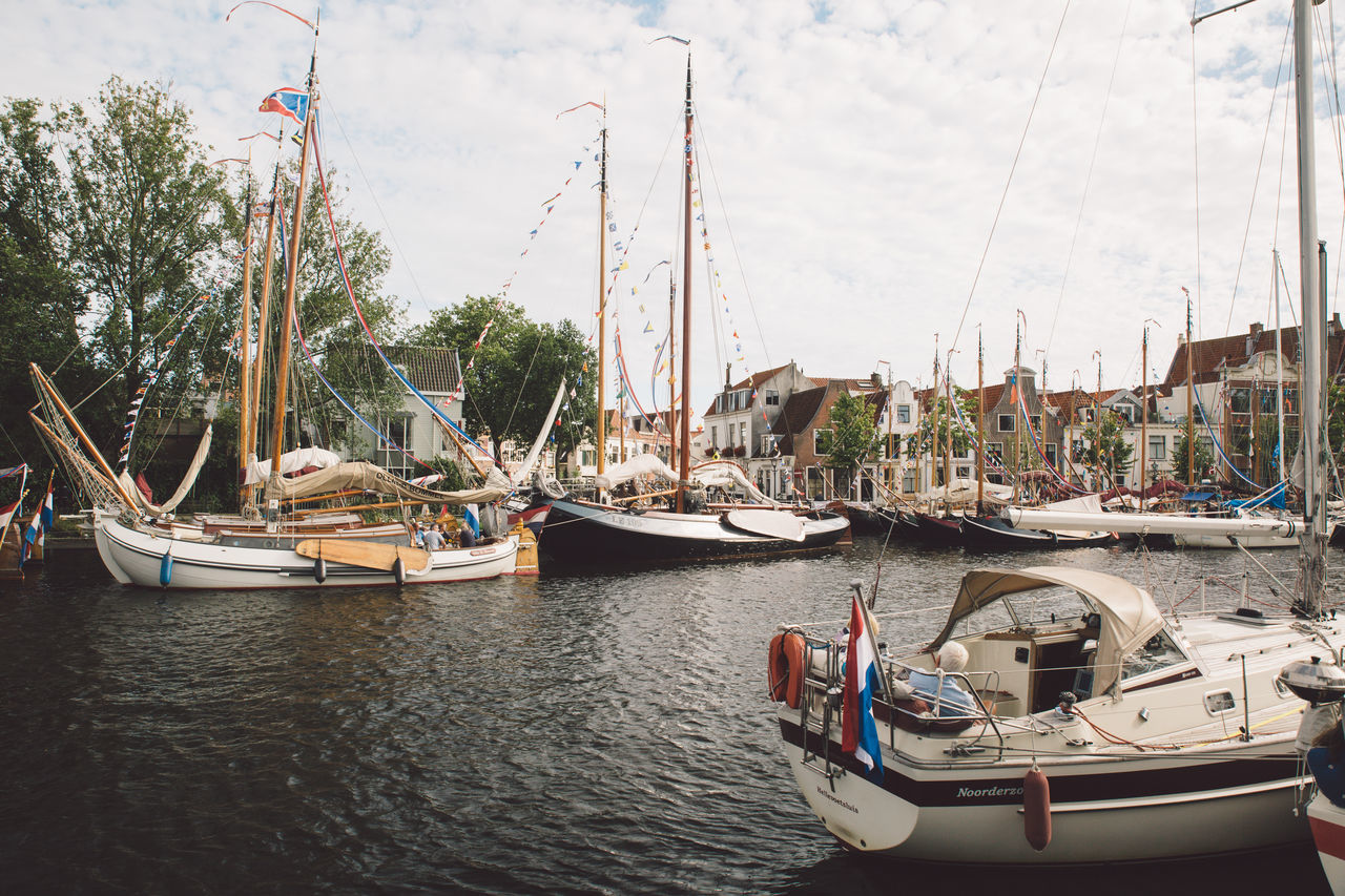 Architecture Haarlem Haarlemse Haarlemse Vaardagen 2017 Architecture Boat Boats Building Exterior Built Structure Canal Cruise Day Dutch Harbor Mast Mode Of Transport Moored Nature Nautical Vessel No People Outdoors River Sailboat Sea Ships Sky Spaarne Transportation Tree Vaardagen Water Waterfront Yacht