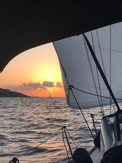 Istanbul Sailing Sunset Sea