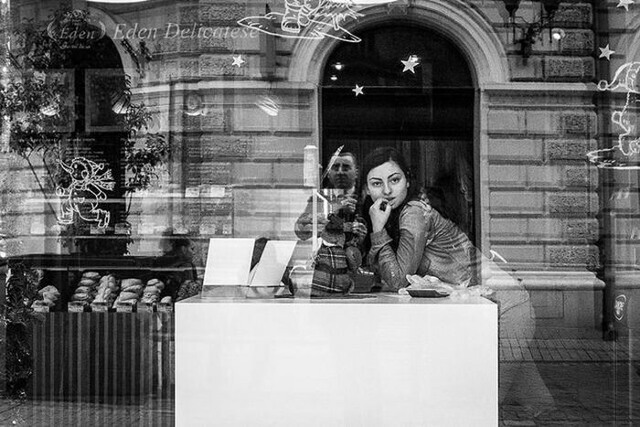 Black & White Candid Photography Streetphotography Reflection Eden Sexy Girl Fingerlickinggood Cockies Better Together