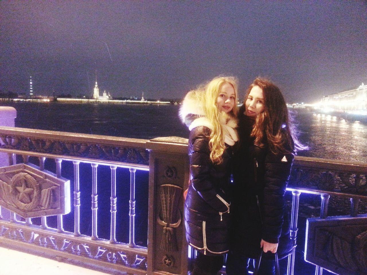 Санкт-Петербург Ночь город пейзаж крепость остров мост река
