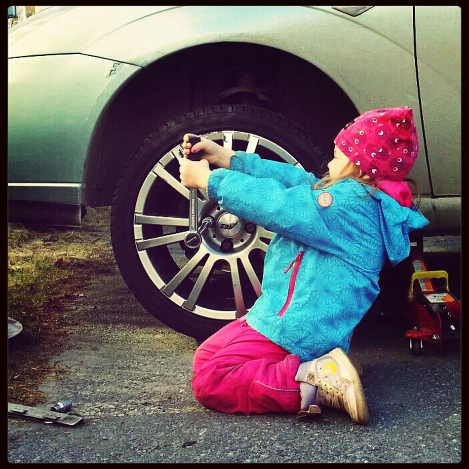 the time of the year finally Fixing My Car My Daughter Daddyoftheyear Check This Out