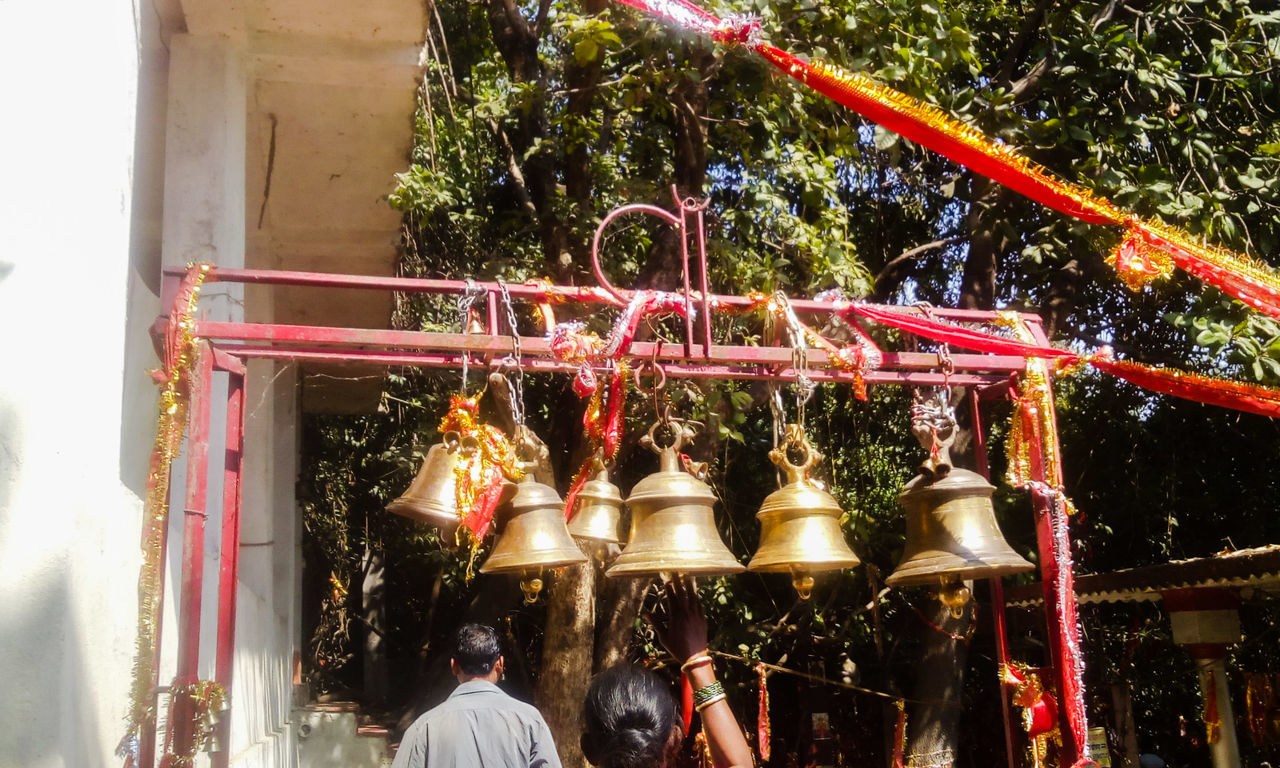 Ghanteshwari Temple- A temple in western Odisha.People offer bells to goddess Ghanteswari or the Deity of Bells, after fulfillment of their wishes.  From My Point Of View Temple Hindu Temple Hindubeliefs Ghanteswari Odisha India Feel The Journey Original Experience Temple Bells Temple Bell 43 Golden Moments Tradition Indian Culture  Faith Belief God's Beauty Showcase June