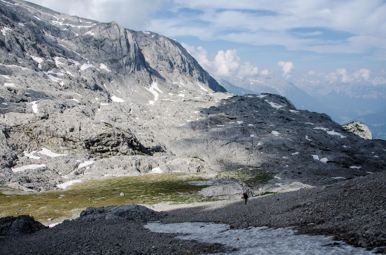 Alpine Hiking Berchtesgadener Land  Hiking Hoher Göll Loneliness Mountains Nationalpark Berchtesgaden Wilderness