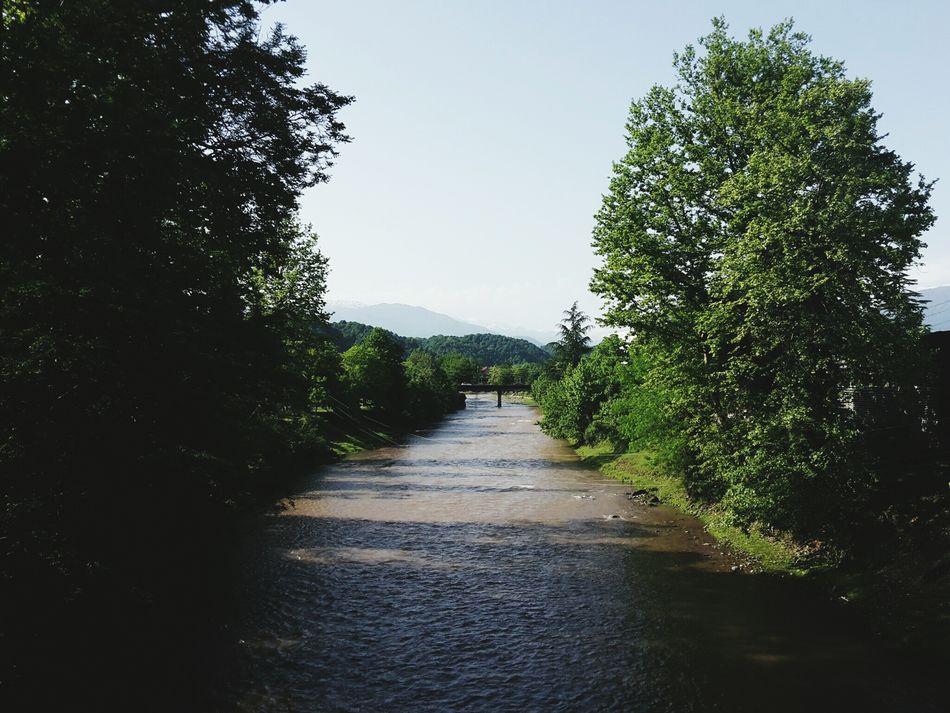 Riverside River Tsalenjikha Tchanistskali Favourite View Mountain
