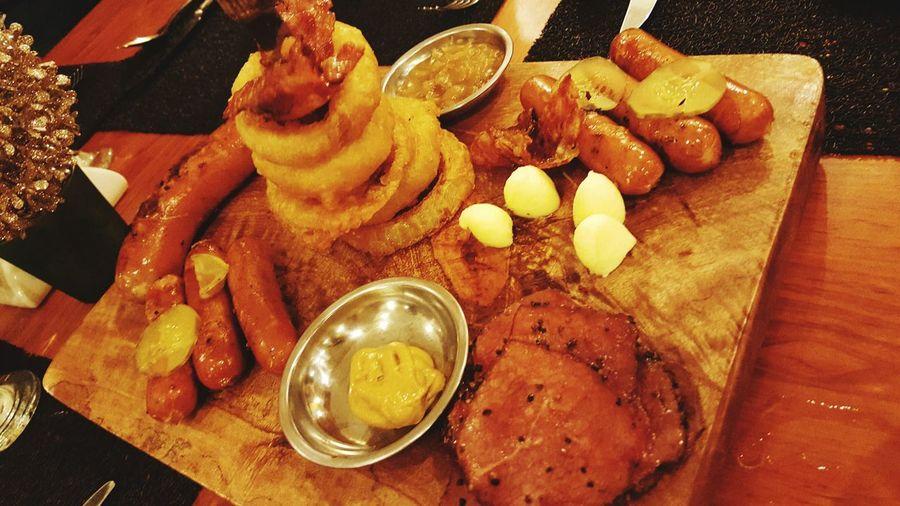 Tasty Potato Rings, Beef Steak, Spicy Sausage Potatorings Beefham Sausage Creations