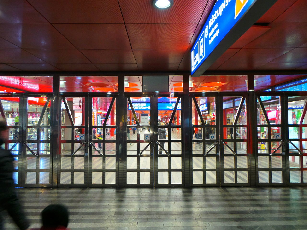 Interior Of Illuminated Berlin Hauptbahnhof