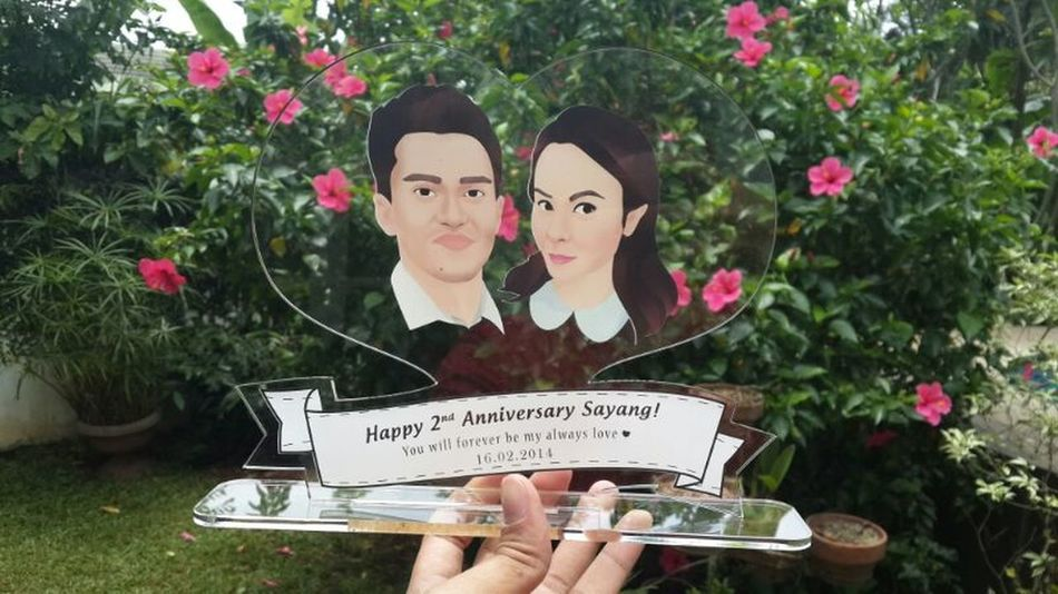Happy 2nd Anniversary sayang! Thanks to iconaart Acrylic Love Anniversary Iconaart