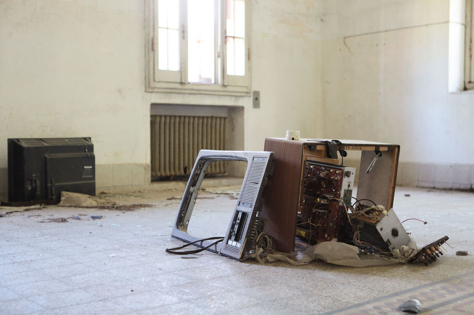 Beautiful stock photos of television, Architecture, Damaged, Day, Floor