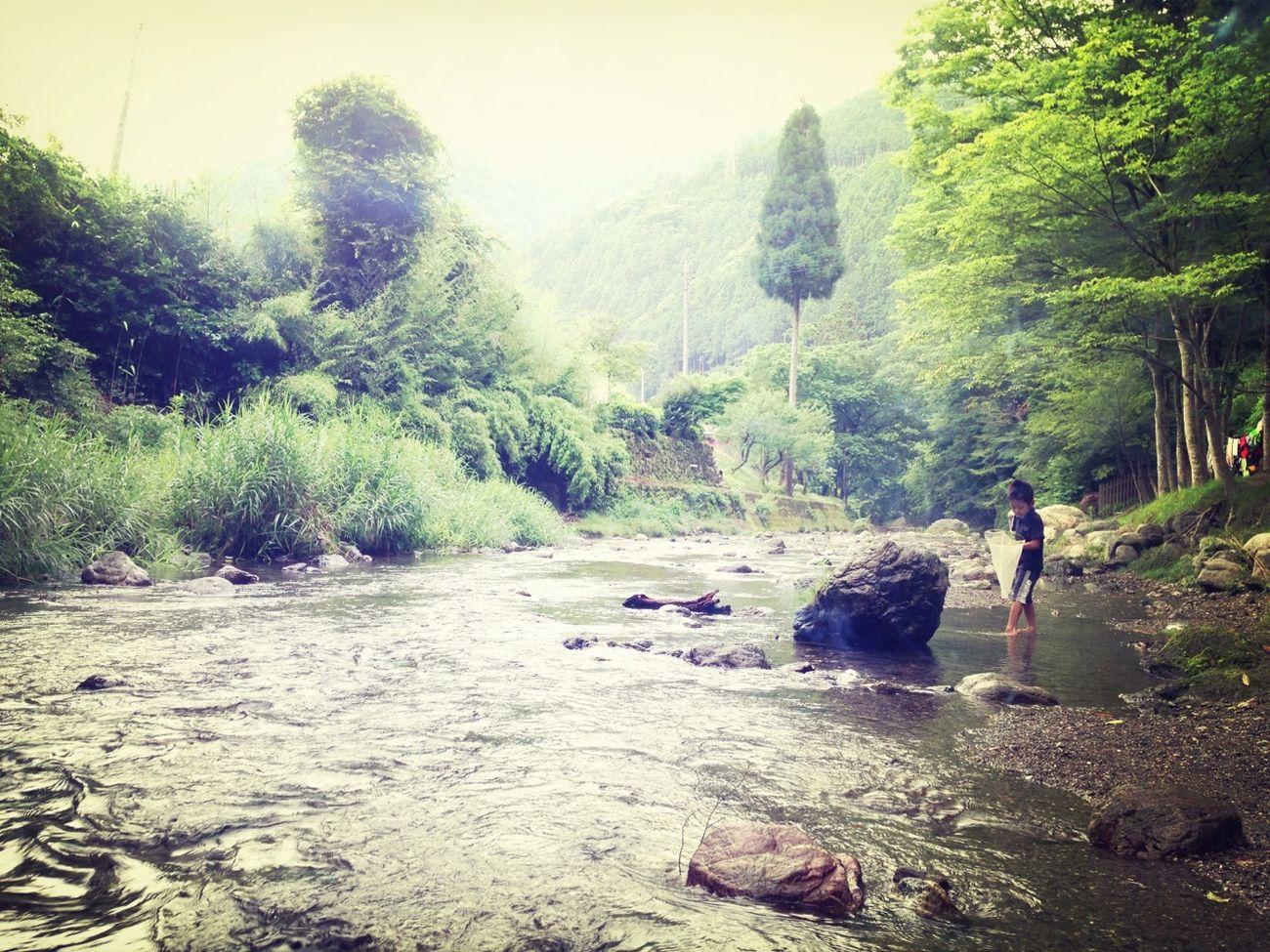 Camping River Photo