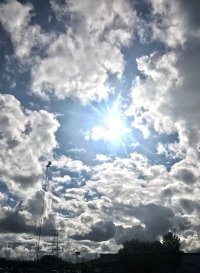 Clouds and sun.