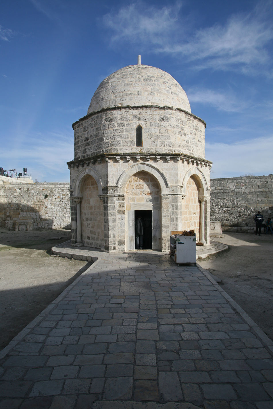 Chapel of the Ascension of Jesus Christ, Jerusalem, Israel Ancient Architecture Ascension Chapel Christ Christianity Church City Dome History Holy Holy City Holy Land Israel Jerusalem Jesus Jesus Christ Middle East Mount Of Olives Old Palestine Pilgrimage Religion Wall Worship