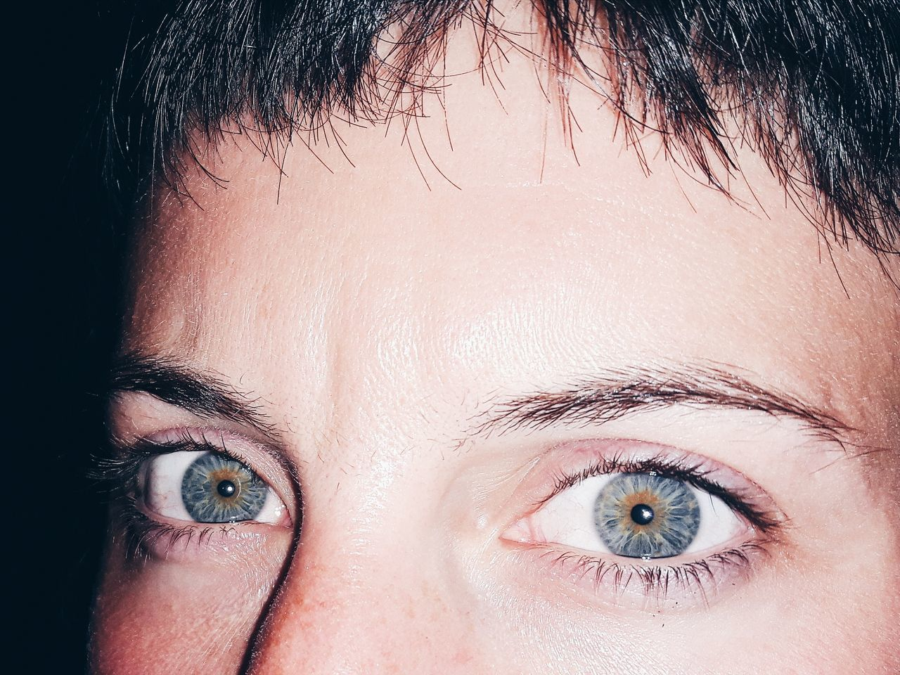 close-up human body part portrait front view Looking At Camera Adults Only human eye only women human face Adult eye eyes Futuristic full frame one woman only people one person women Science young adult day