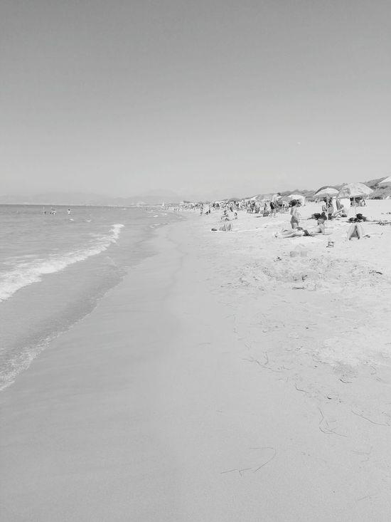 Beach Sand Blue Sea Clear Sky Beauty In Nature Eboli Water Summer2016