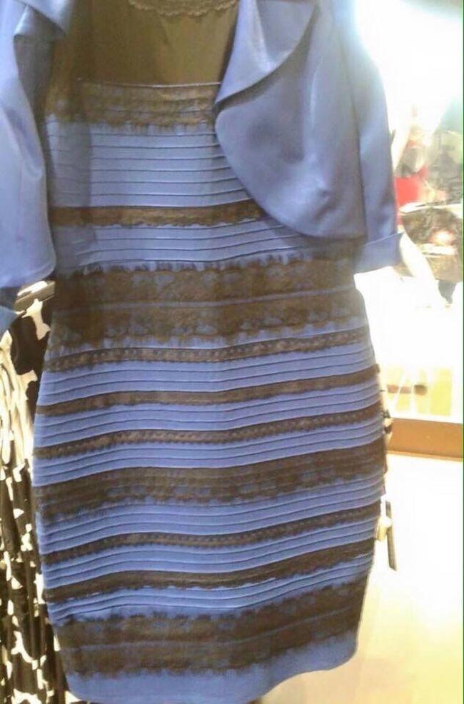 y tu, ¿De que color lo ves? Blackandblue Goldandwhite Negroyazul Blancoydorado Trending Topic Dress Optical Illusions Mindblown