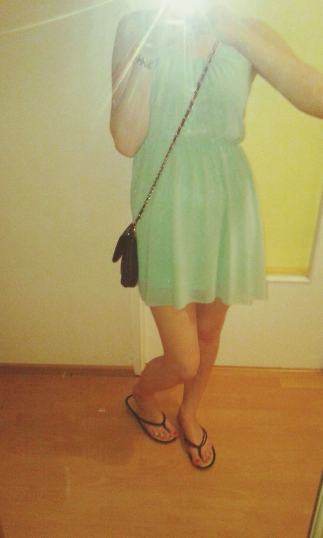 Relaxing Summer Pregnant That's Me Dress Mintdress