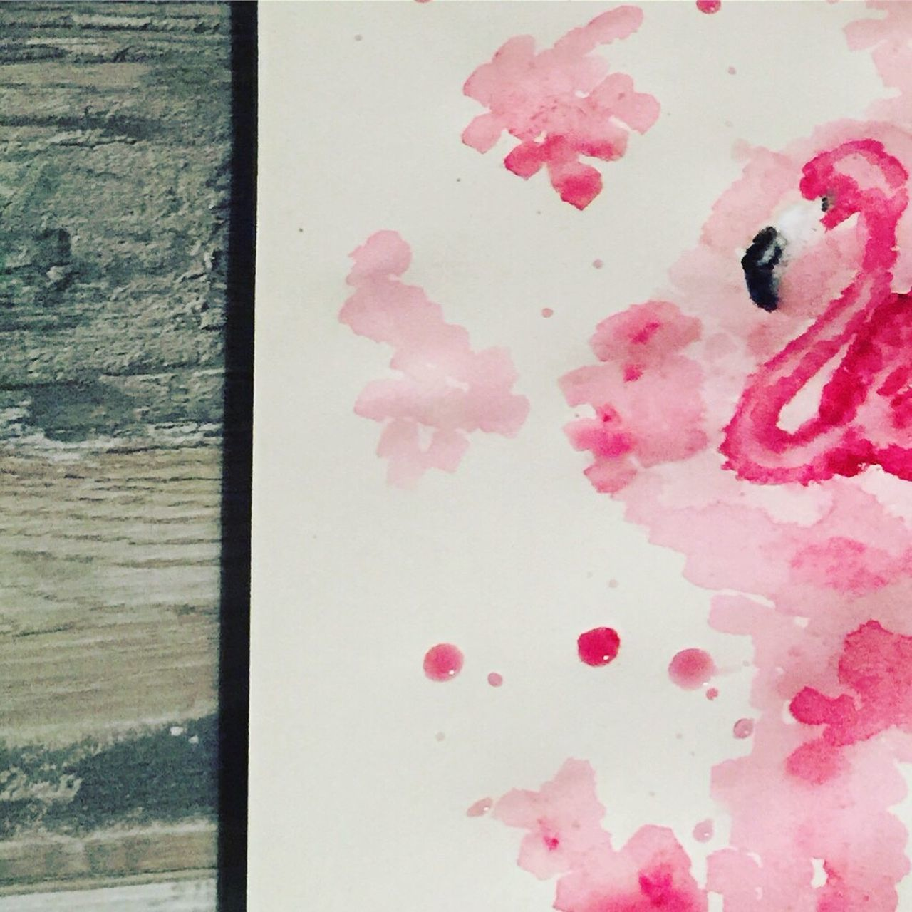 BYOPaper! No People Pink Color Close-up Day Indoors  Ink Flamingo Aquarelle Art Painting