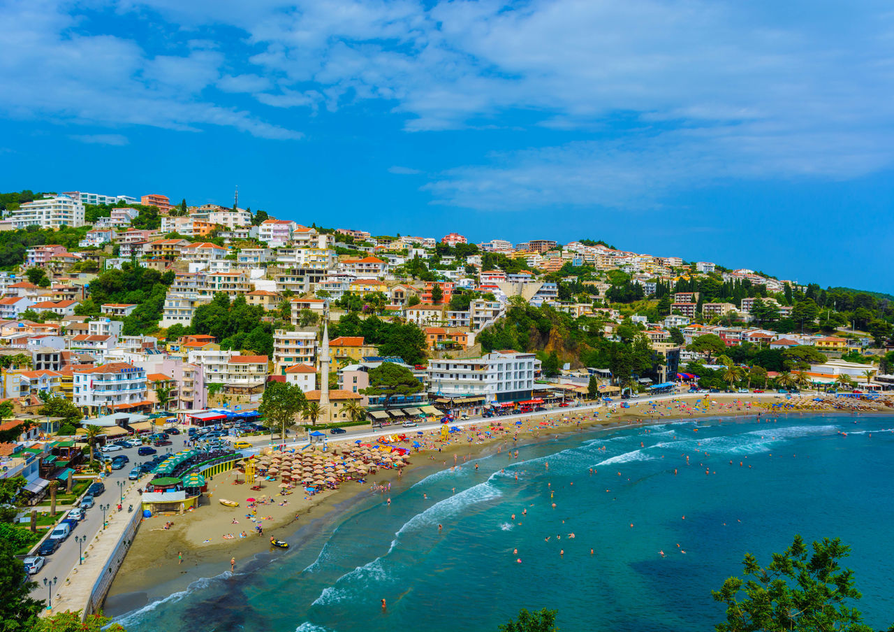 Architecture Beach City Cityscape Cultures Day Landscape Montenegro Outdoors Sea Tourism Travel Travel Destinations Ulcinj Vacations