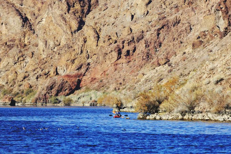 Kayaking on the Colorado river Water Outdoors Scenics Real People Beauty In Nature Nature Adventure River Leisure Activity Kayak Boating Travel Arizona Colorado River Willow Beach Vacations People