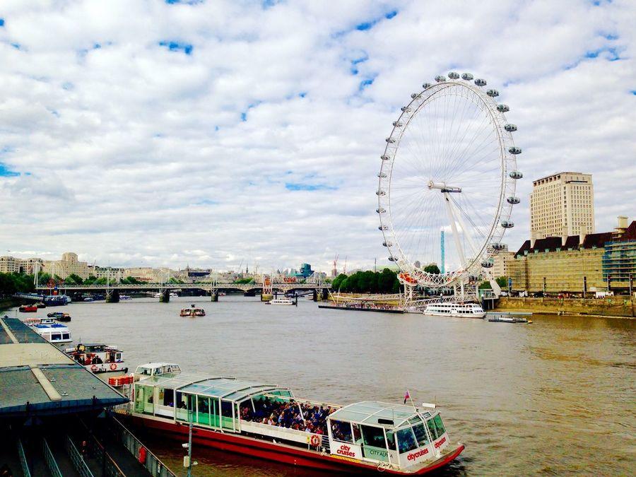Themse London London Eye River Fluss Ship Summer Holidays Sommerferien Summer Holidays