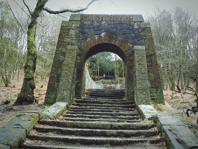 Stone Arch Old Buildings Forgotten Places  Ruins China Garden at Rivington Bolton