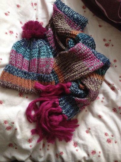 I love my New Bobble Hat  Scarf Warm Snug