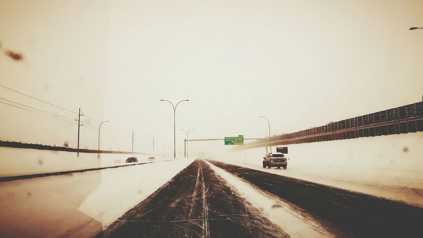 Transportation Winter Car Snow Road Cold Temperature The Way Forward Sunset Outdoors No People Sky Nature Day
