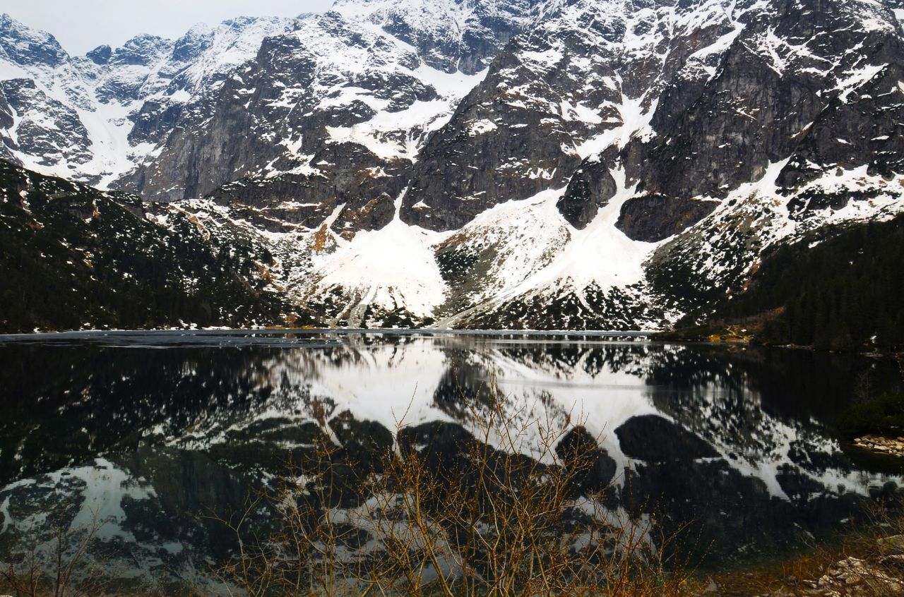 Lake in Poland Reflection Water Nature Lake Day Beauty In Nature Outdoors Scenics Backgrounds Landscape Travel Vacations Adventure Tranquility Poland Morskieoko
