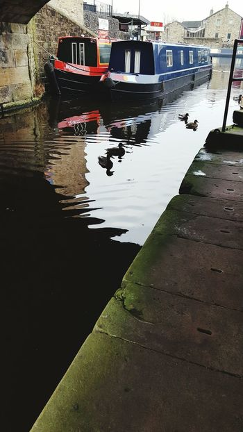 Water Reflection Nature Puddle Outdoors Day No People Ducks Canal Boathouses