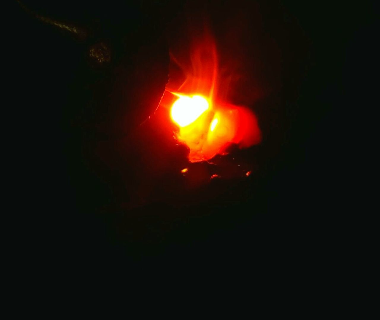 heat - temperature, night, burning, flame, lava, no people, outdoors, molten, close-up, nature, astronomy