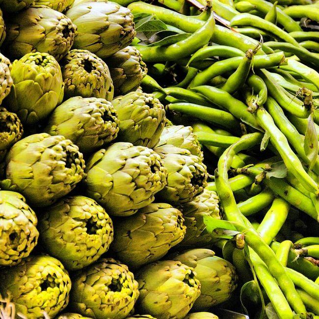 Green Vegetables Verde Comida Verduras Alcachofas Carxofes