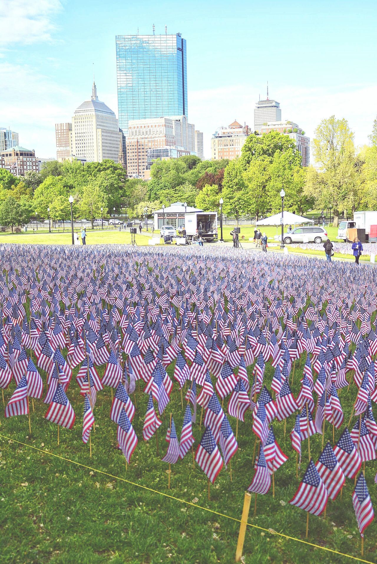Garden Of Flags has been planted in Boston Common Memorial Day Remembrance