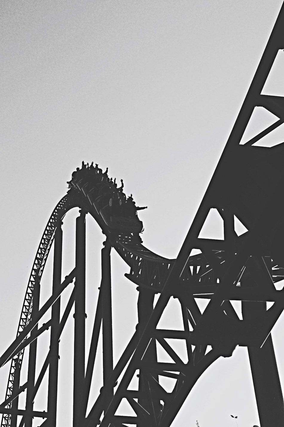 Beautiful stock photos of roller coaster, Arts Culture And Entertainment, Day, Enjoyment, Fun