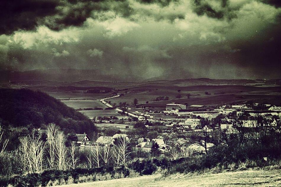 Landscape Village Countryside Spring