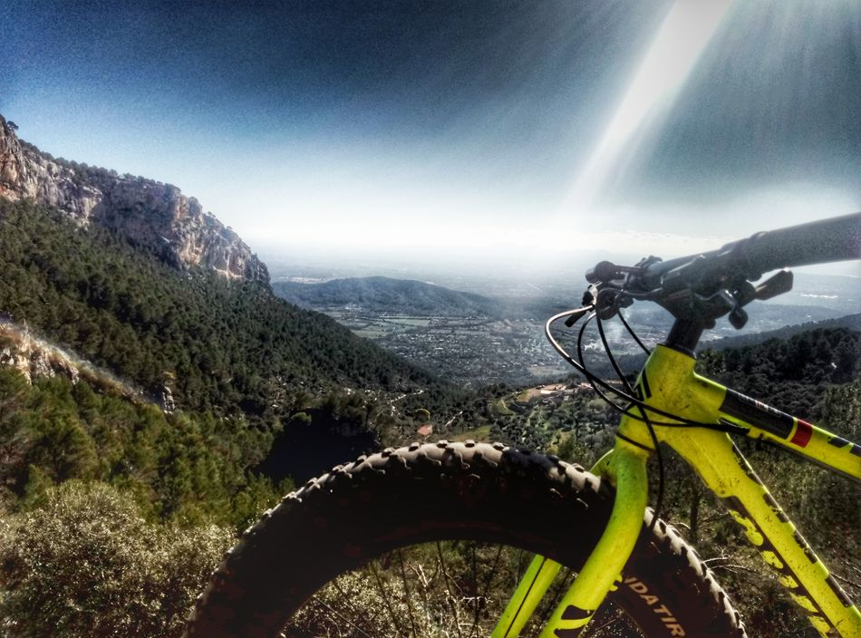 Mountain Adventure Scenics Landscape Alaro Fat Bike Fatbike Mallorca Mallorca Photographer Smartphone Photographer Mallorcaphotographer Smartphone Photography Smartphonephotography Sky Cloud - Sky Outdoors Mountain Bike No People Bicycle