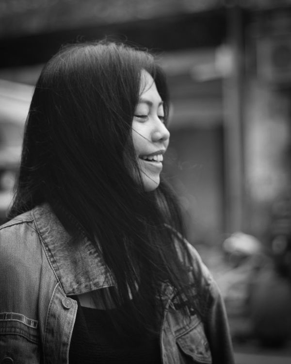 Potrait BW a girl so cute haha.. Adult Adults Only Only Women One Person Long Hair People Beautiful Woman Young Adult Beautiful People One Woman Only One Young Woman Only Young Women Women Beauty Headshot Portrait Smiling Day Outdoors City First Eyeem Photo