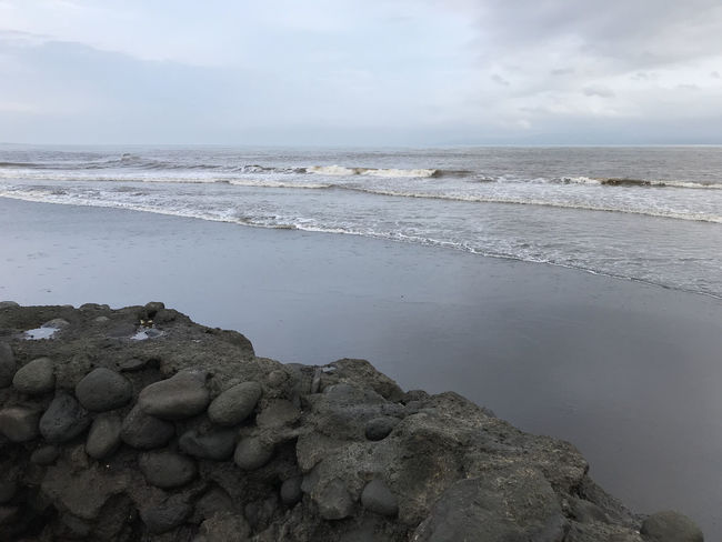 Bali, Indonesia Beach Beauty In Nature Black Sand Day Horizon Over Water Nature No People Outdoors Sand Scenics Sea Sky Tranquil Scene Tranquility Water Wave