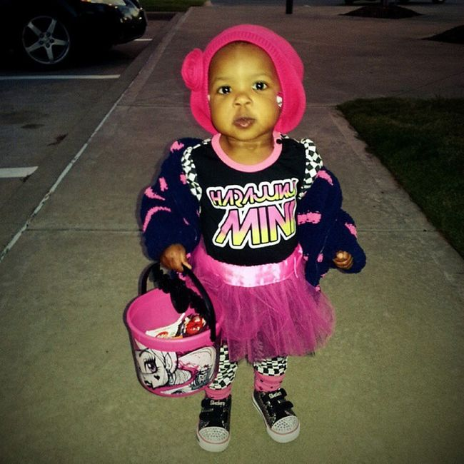 My little 80's rocker chick... 1sttrickortreat